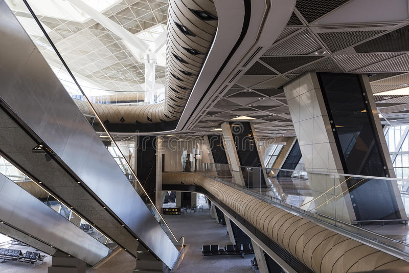 盖达尔・阿利耶夫国际机场内部在阿塞拜疆 免版税库存照片