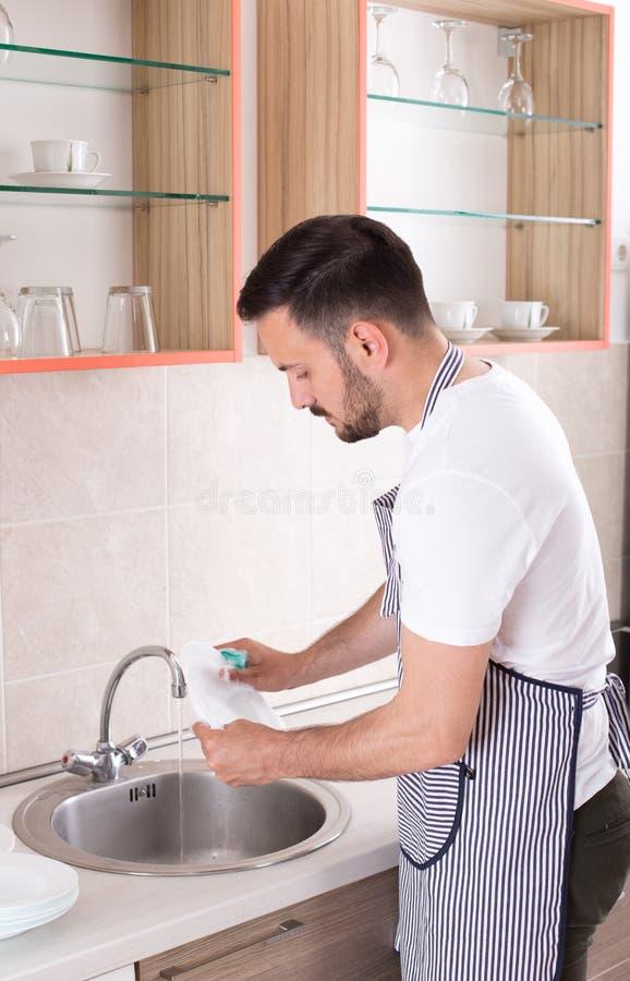 盘供以人员洗涤 库存图片