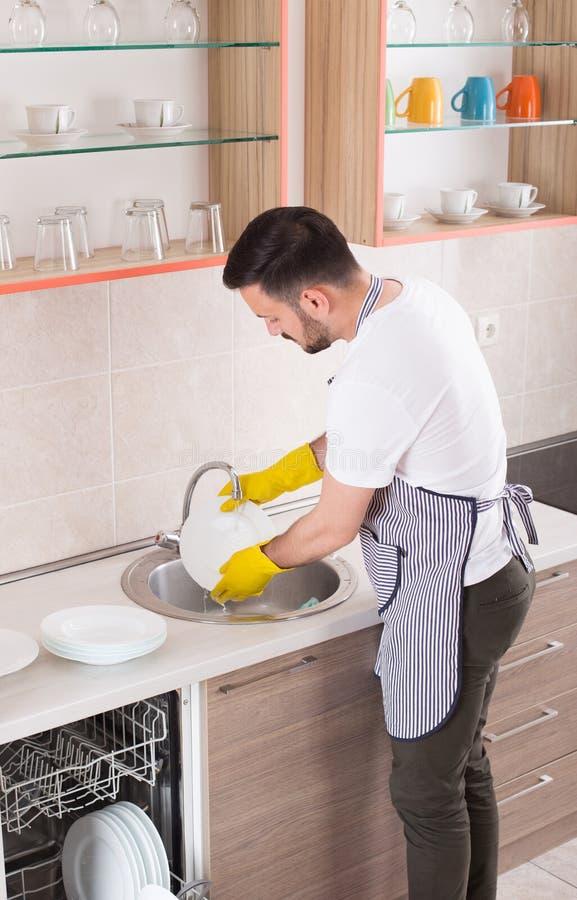 盘供以人员洗涤 库存照片