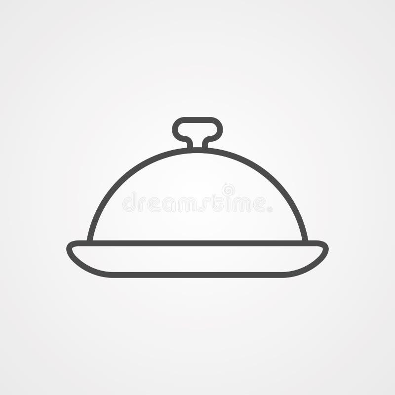 盘子传染媒介象标志标志 库存例证
