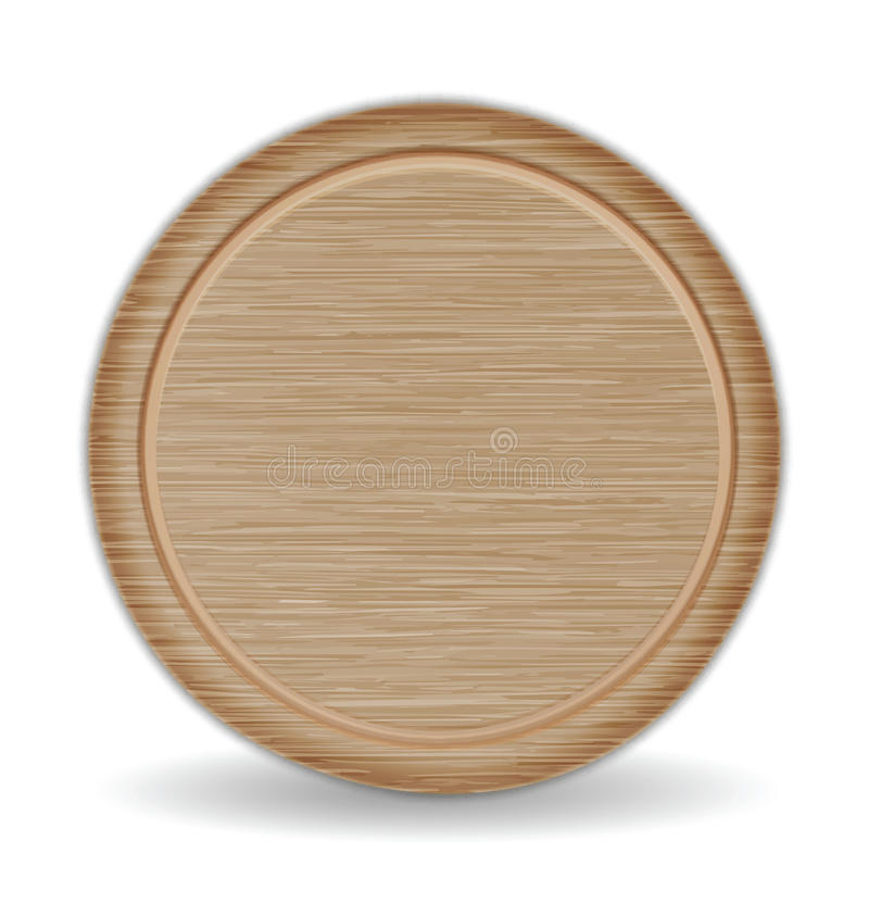 盘旋切板,黑褐色橡木薄饼盘子 皇族释放例证