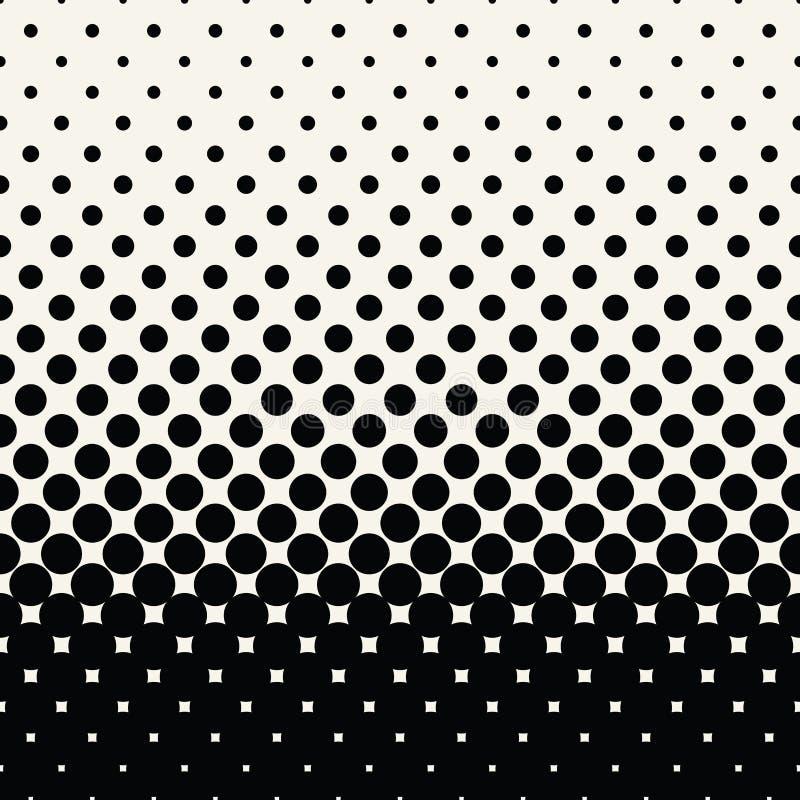 盘旋半音无缝的几何梯度黑白样式 向量例证