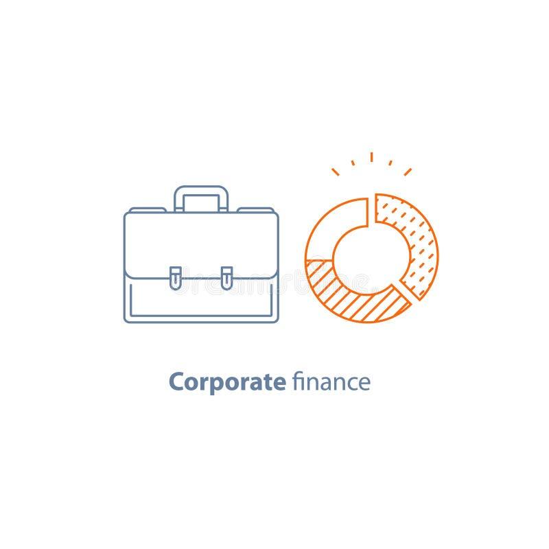 盘旋图、公司费用、财政逻辑分析方法服务、公司财务报告、基金管理和会计 皇族释放例证