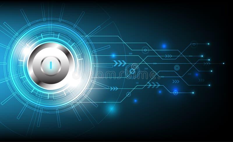 盘旋技术与各种各样的技术和停止键设计,传染媒介例证 向量例证