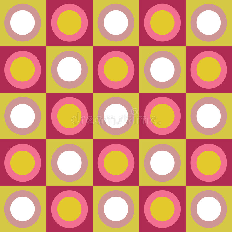 盘旋拼贴画五颜六色的减速火箭的正方形 库存例证