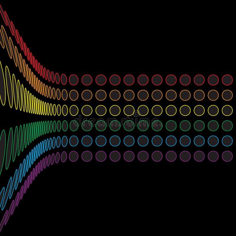 盘旋格式彩虹 库存例证