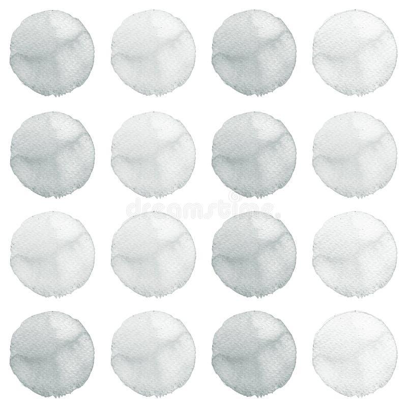 盘旋现有量做自己被绘的形状水彩的设计要素 被设置的灰色横幅 向量例证