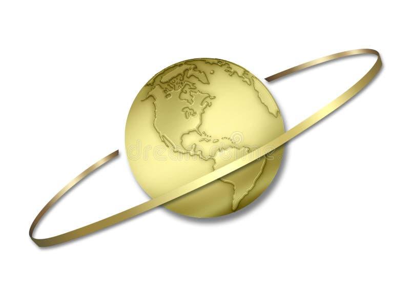 盘旋的地球 皇族释放例证