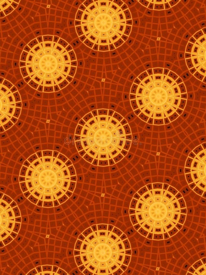 盘旋红色金的模式 库存例证