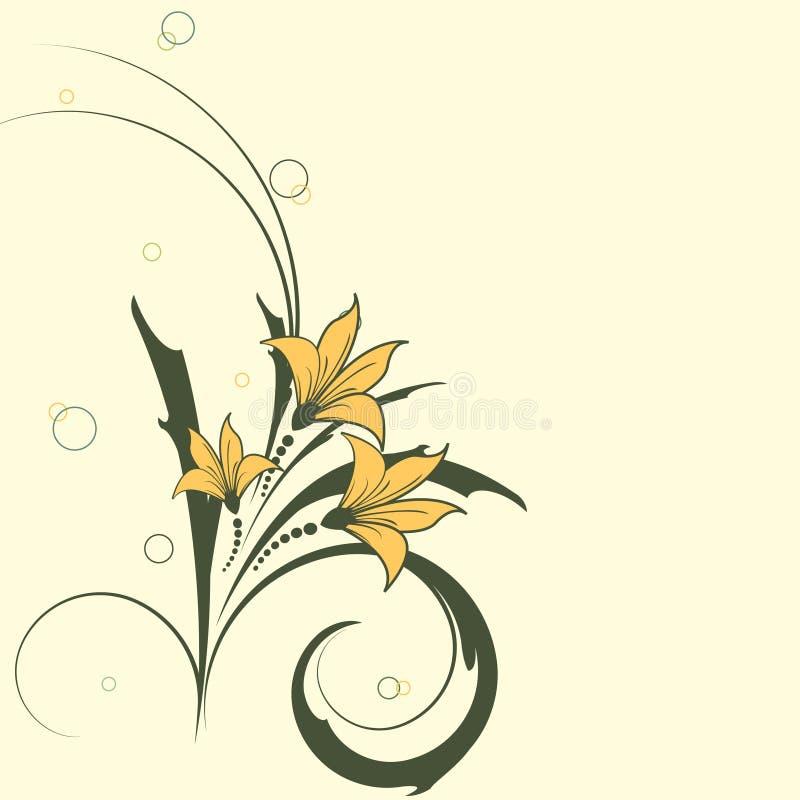 盘旋花卉向量 皇族释放例证