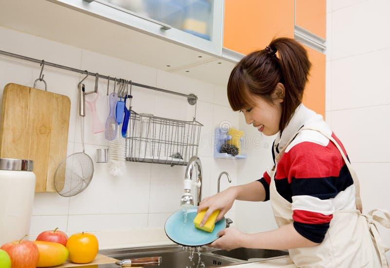 盘洗涤物 库存图片
