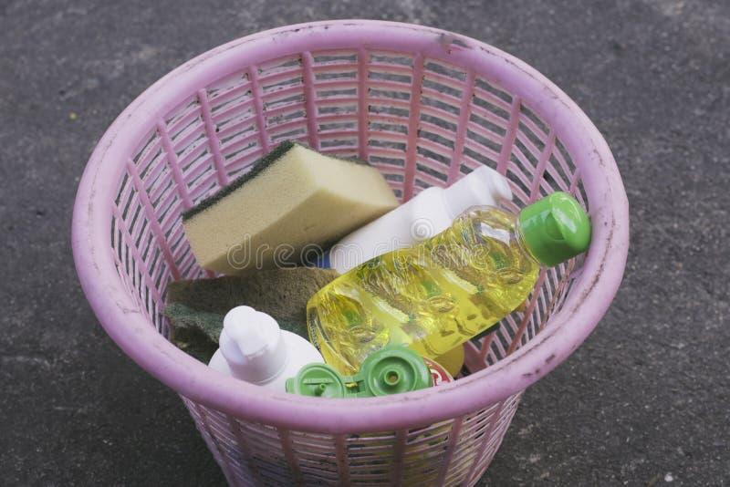 盘洗涤的篮子 库存图片