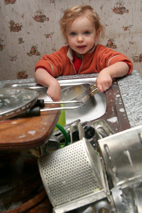 盘洗涤 图库摄影