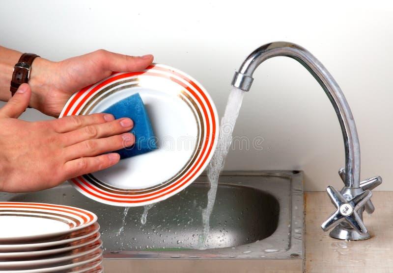 盘洗涤 免版税库存图片