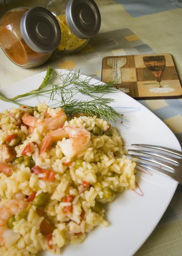 盘米虾 免版税库存图片