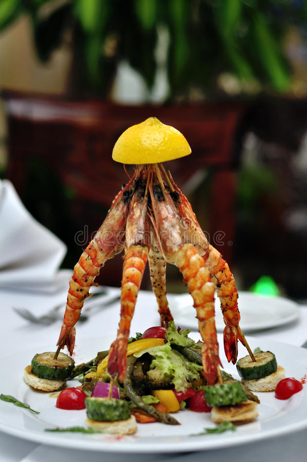 盘龙虾做 免版税库存照片