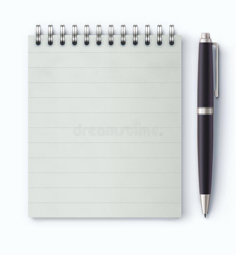 盘绕被限制的笔记本 向量例证
