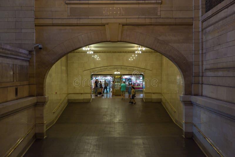 盛大中央终端内部和细节在纽约 免版税库存图片