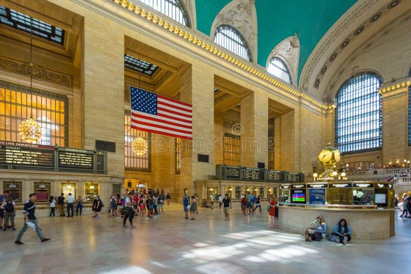 盛大中央终端内部和细节在纽约 免版税库存照片