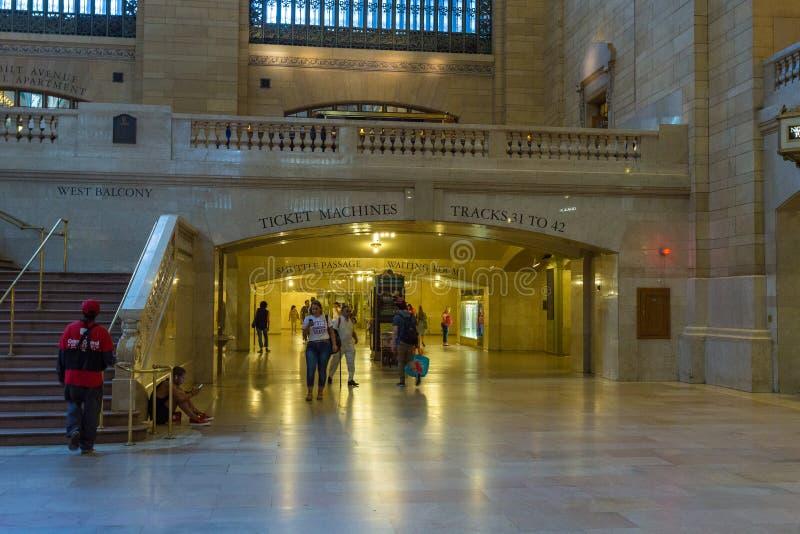 盛大中央终端内部和细节在纽约 库存照片