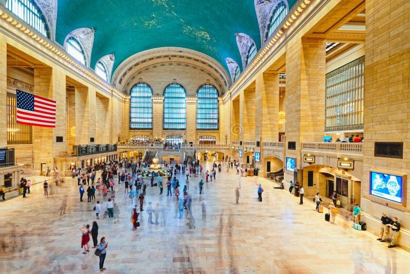 盛大中央终端在纽约 主要广场内部  库存图片