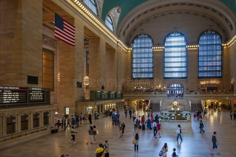 盛大中央终端的主要广场的看法在纽约 免版税库存图片