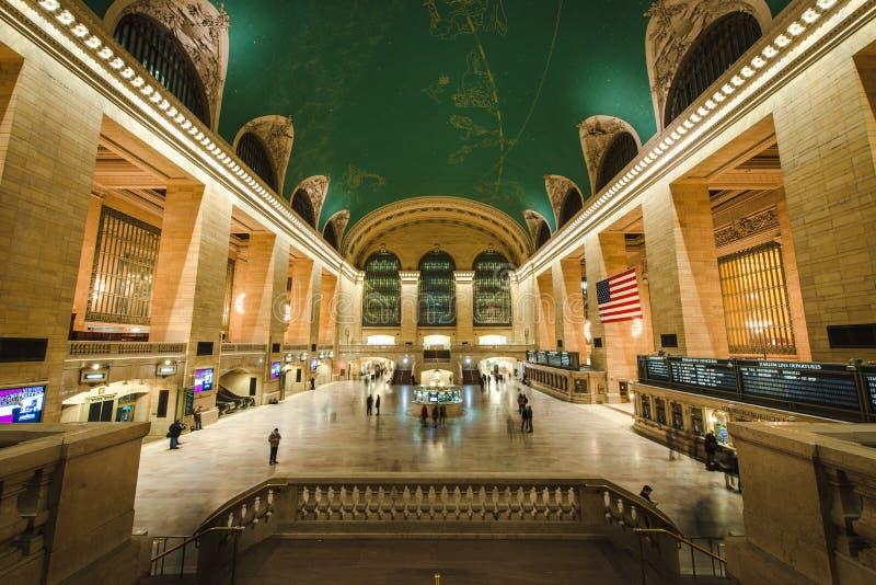 盛大中央驻地内部,NYC 免版税库存照片