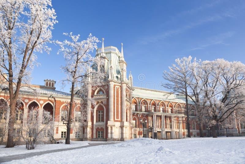 盛大宫殿在Tsaritsyno,莫斯科,俄罗斯 库存照片