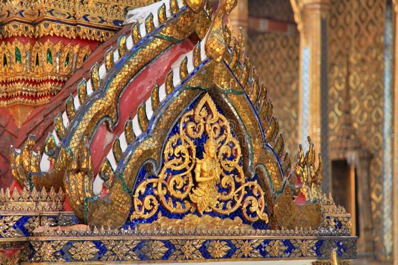 盛大宫殿寺庙细节曼谷泰国 免版税库存图片