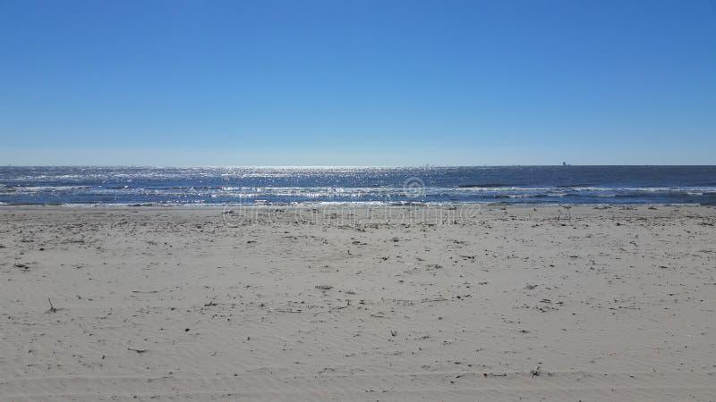 盛大小岛海滩(墨西哥湾) 库存图片