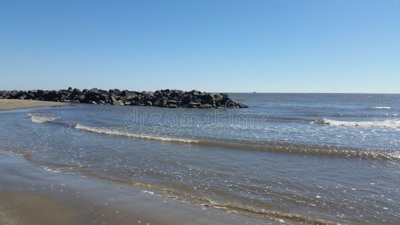 盛大小岛海滩 免版税图库摄影