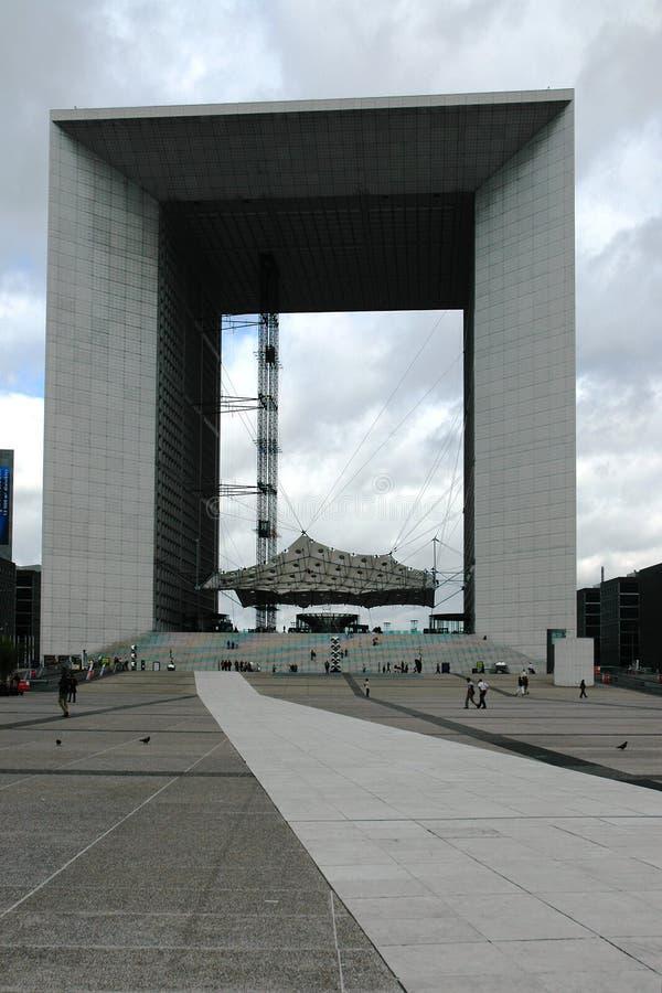 盛大曲拱在拉德芳斯区 图库摄影