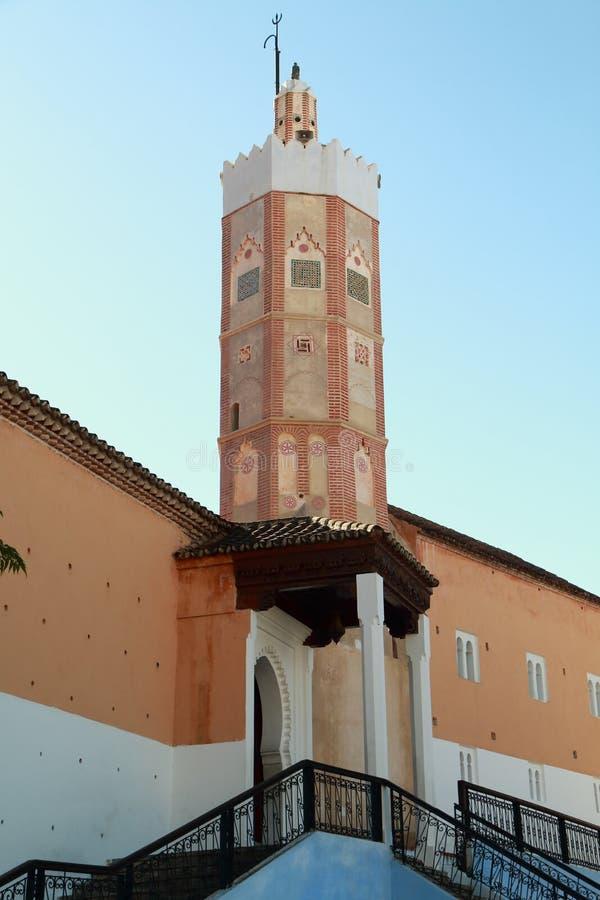 盛大清真寺在舍夫沙万,摩洛哥 库存照片