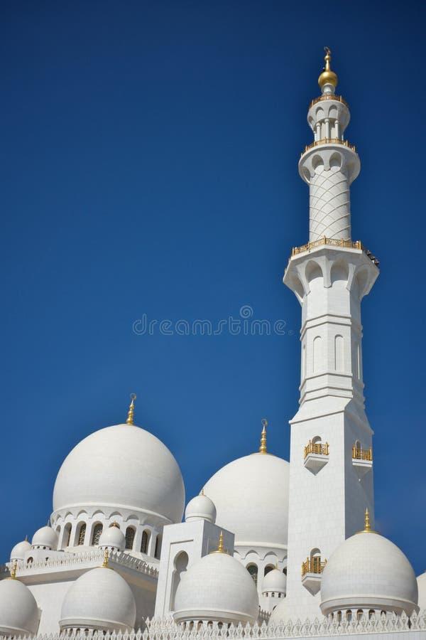 盛大清真寺在阿布扎比,阿拉伯联合酋长国 库存图片