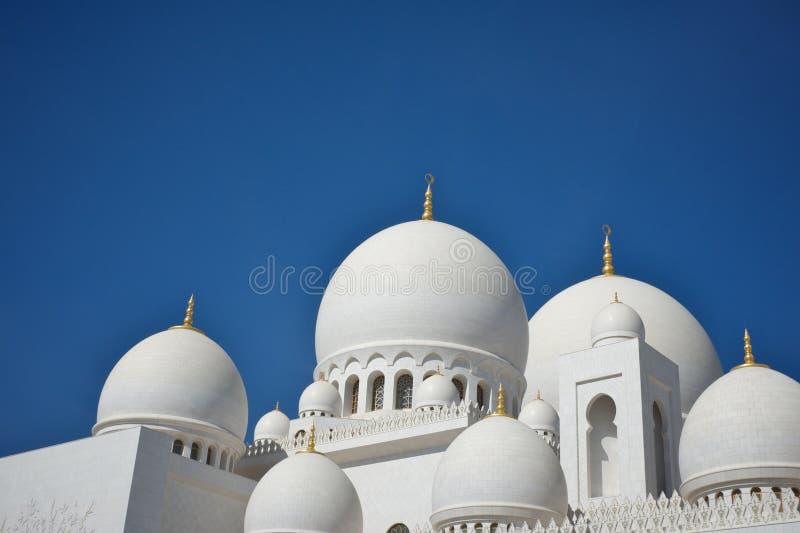 盛大清真寺在阿布扎比,阿拉伯联合酋长国 免版税库存照片