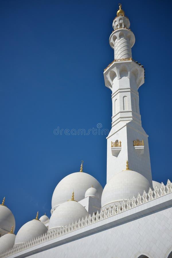 盛大清真寺在阿布扎比,阿拉伯联合酋长国 库存照片
