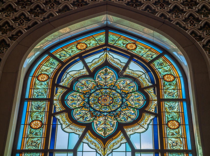 盛大清真寺-马斯喀特-阿曼 免版税图库摄影