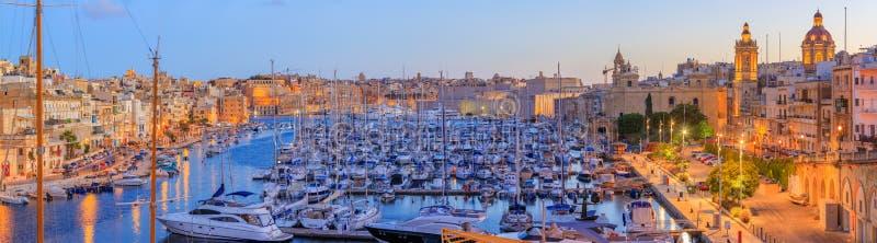 盛大港口在马耳他 免版税库存照片