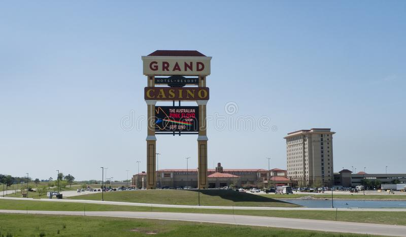 盛大赌博娱乐场和手段,肖尼, OK 库存图片
