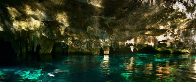 盛大Cenote在墨西哥 免版税库存图片