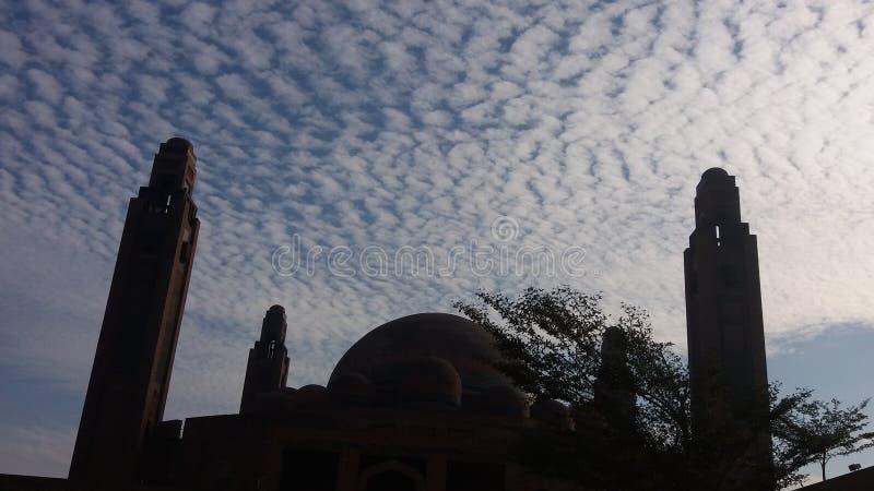 盛大jamia masjid behria镇拉合尔 免版税库存图片