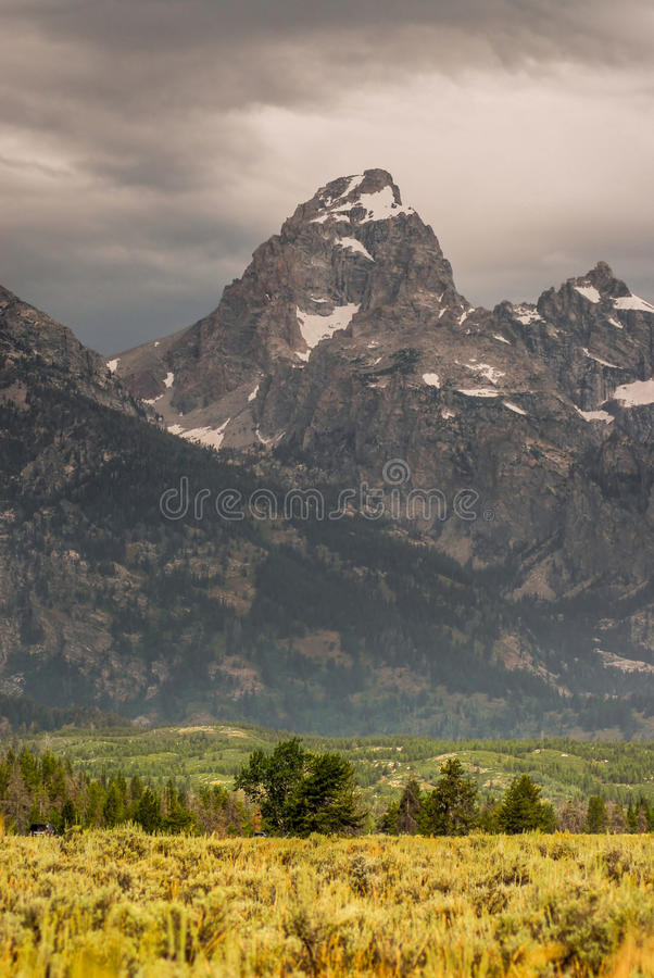 盛大Teton国家公园 库存照片
