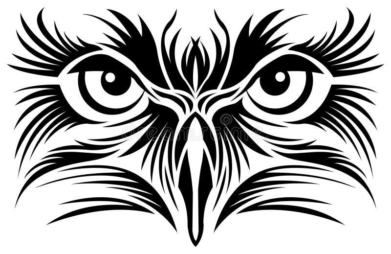 目光敏锐纹身花刺 向量例证