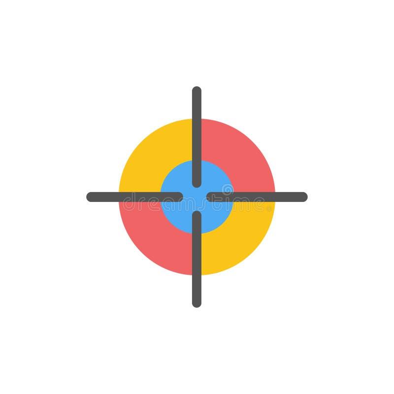 目标、目标、界面平整颜色图标 矢量图标横幅模板 库存例证