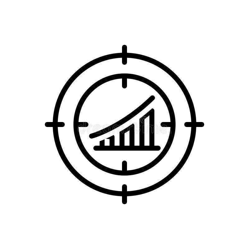 目标、行销和管理的黑线象 向量例证