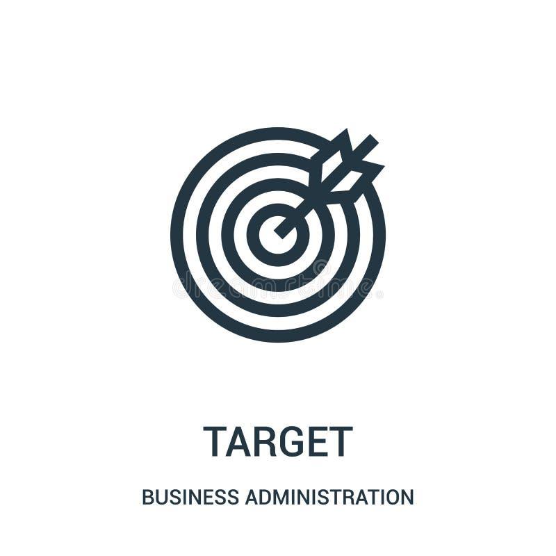 目标从工商管理汇集的象传染媒介 稀薄的线目标概述象传染媒介例证 向量例证