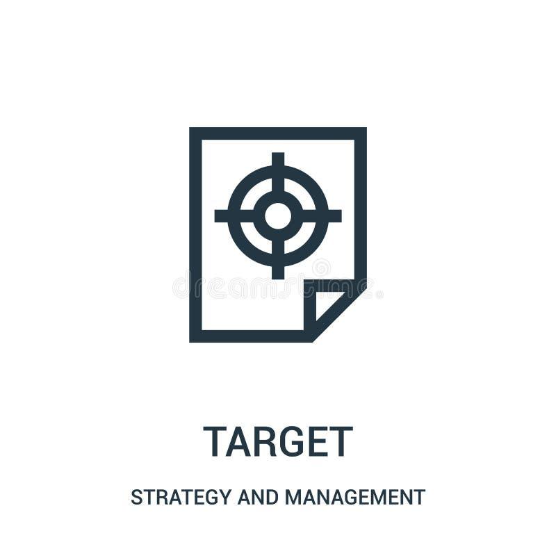 目标从战略和管理汇集的象传染媒介 稀薄的线目标概述象传染媒介例证 库存例证