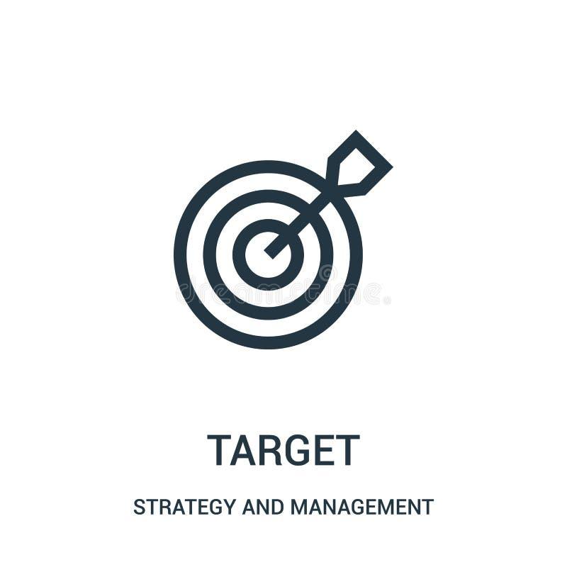 目标从战略和管理汇集的象传染媒介 稀薄的线目标概述象传染媒介例证 皇族释放例证
