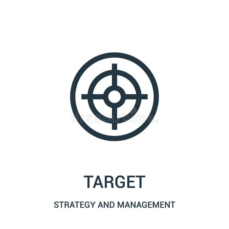 目标从战略和管理汇集的象传染媒介 稀薄的线目标概述象传染媒介例证 向量例证