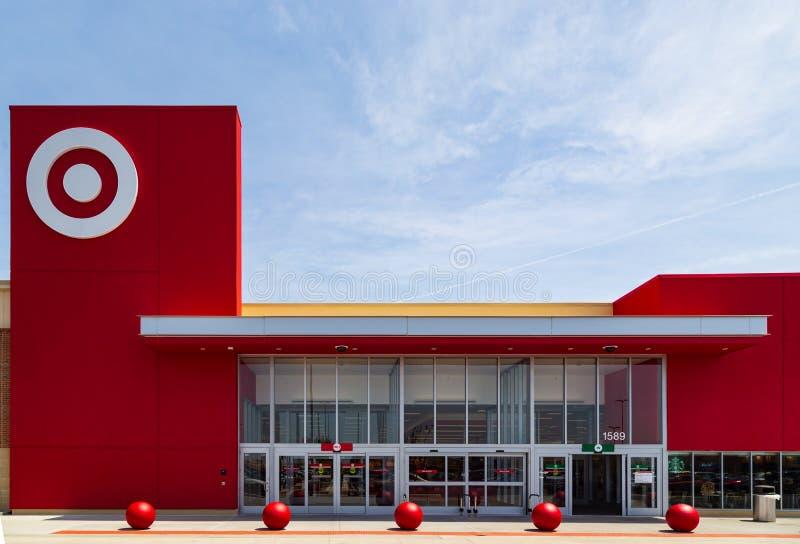 目标商店入口 免版税图库摄影
